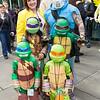 Leonardo, April O'Neil, Donatello, Michelangelo, Casey Jones, and Raphael