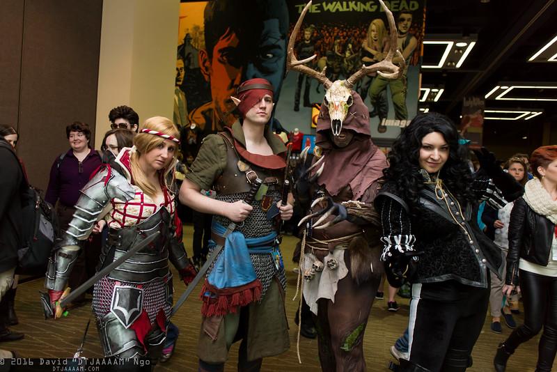 Saskia, Iorveth, Leshen, and Yennefer