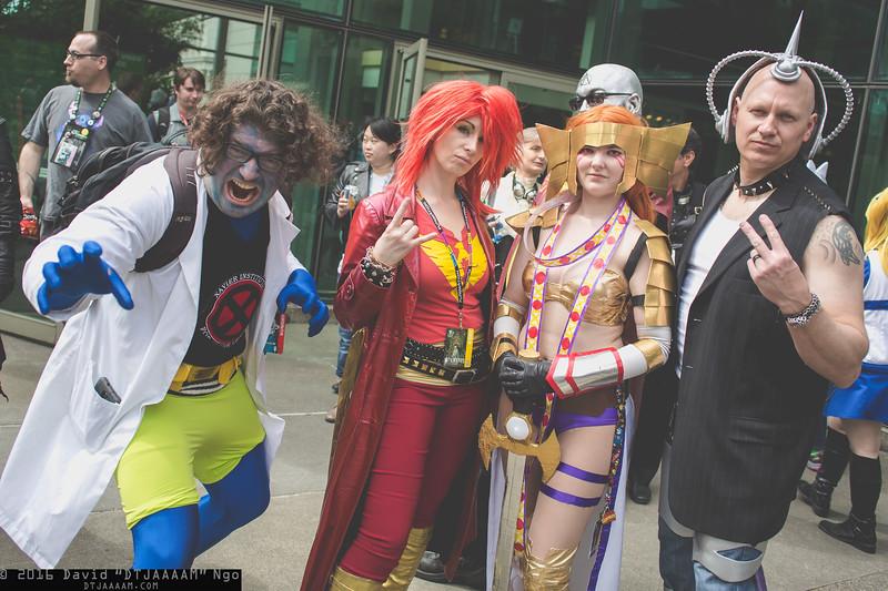 Beast, Phoenix, Angela, and Professor X