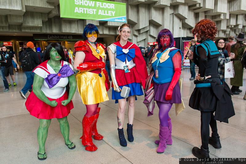 Hulk, Iron Man, Thor, Vision, and Black Widow