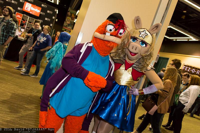 Pepe and Miss Piggy