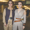 Princess Leia Organa and Rey