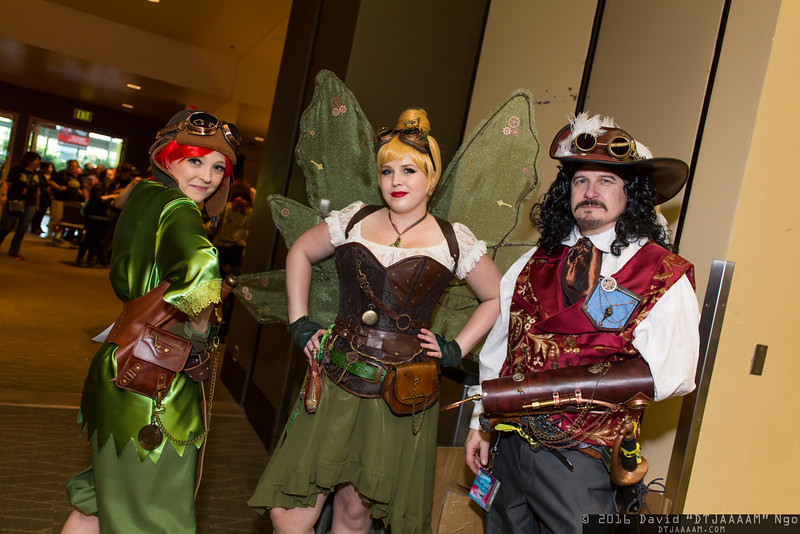 Peter Pan, Tinker Bell, and Captain Hook