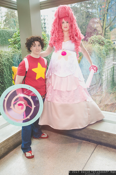 Steven Universe and Rose Quartz
