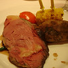 Prime rib w/ baked potato and tomato