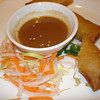 Vegetable spring rolls, peanut sauce
