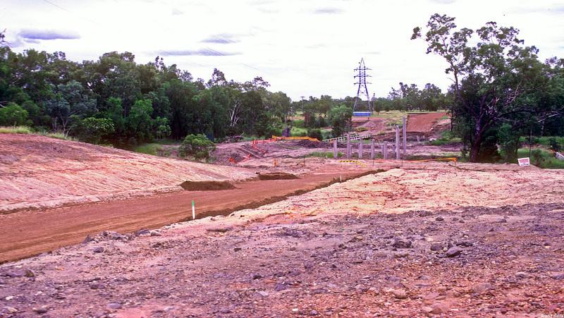 John Gay bridge under construction over the Nagoa River in Emerald