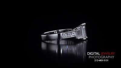 3 Stone Emerald Cut Diamond Ring With Side Stones 04