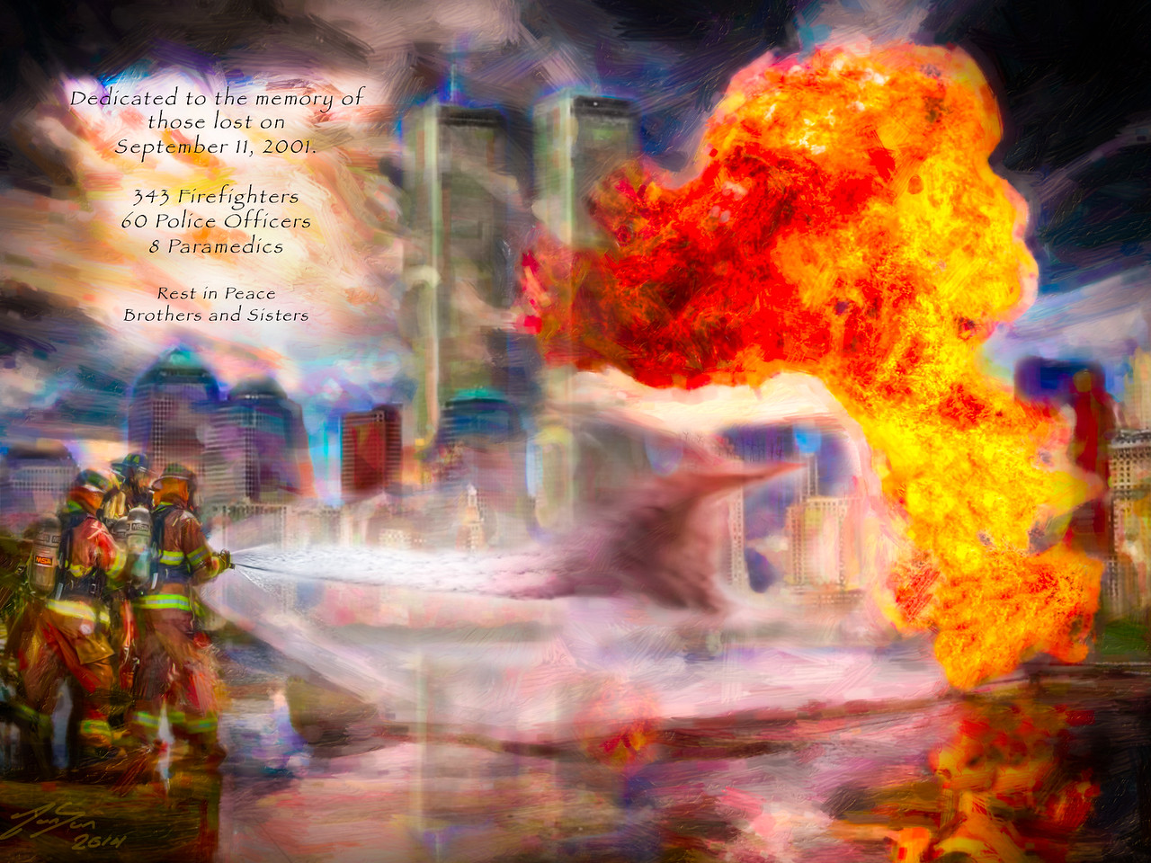 This piece is dedicated to the memory of all those lost on September 11, 2001.