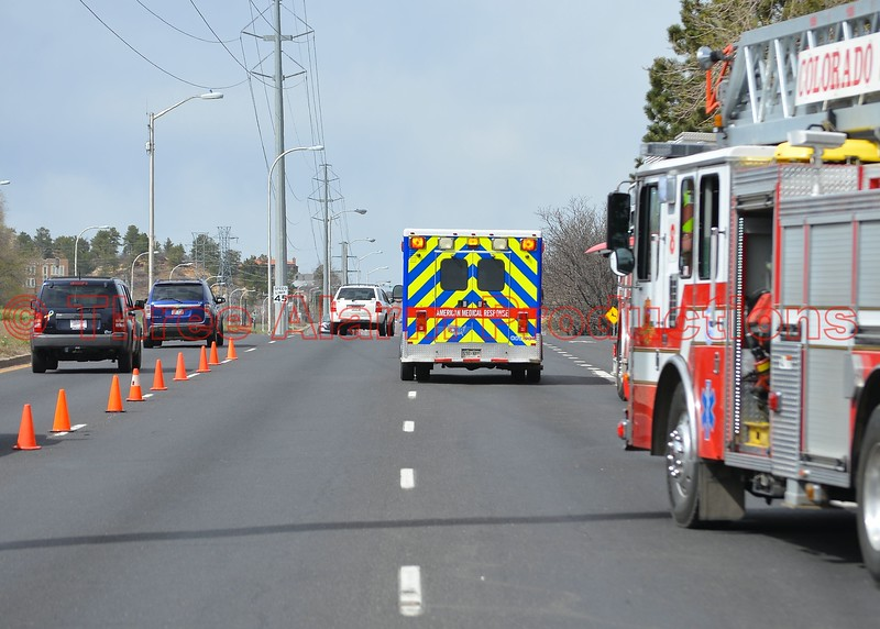 Two lanes of N. Academy Boulevard were closed near the working apartment incident on Constitution Avenue. April 11, 2015