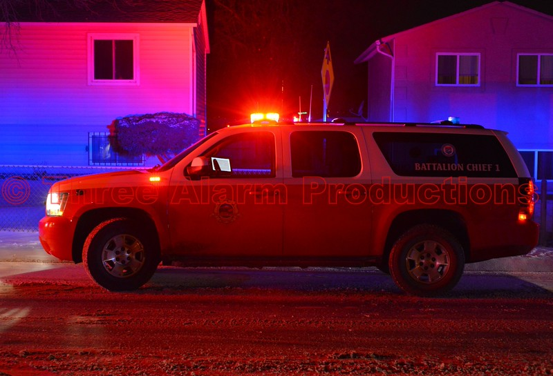 Colorado Springs District 1 Chief, on scene of a second alarm house fire, on Colony Hills Circle. December 30, 2014