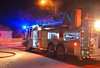 Colorado Springs Ladder Truck 1 on the scene of a working house fire with rescue needed, on Colony Hills Circle. December 30, 2014