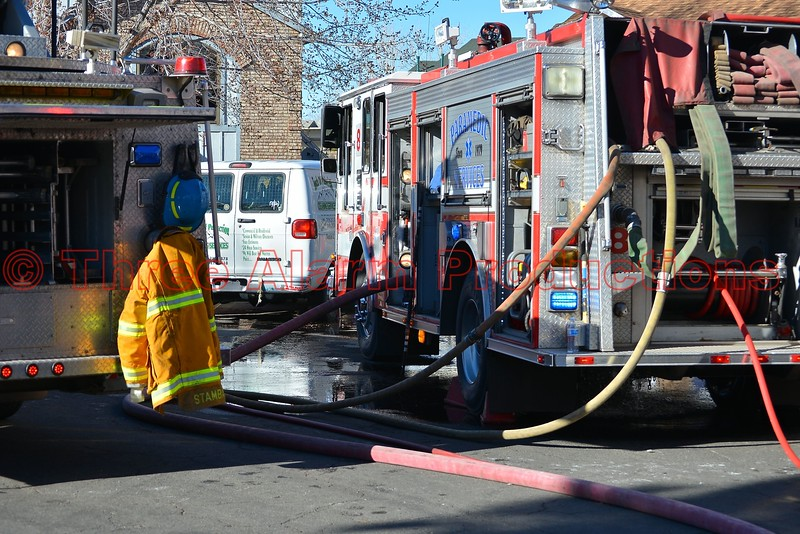 Colorado Springs Fire Engines on the scene, with multiple hose lines working, on a house fire incident, on Neal Court. No injuries were reported on this working fire incident. March 21, 2015