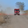 Water tender approaching the scene of a wildland fire in Ellicott, Colorado off of Colorado Highway 94, April 9, 2016