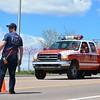 Colorado Springs Brush Truck 17, arriving on scene of a wildland fire inside Pulpit Rock Park.  April 24th, 2016