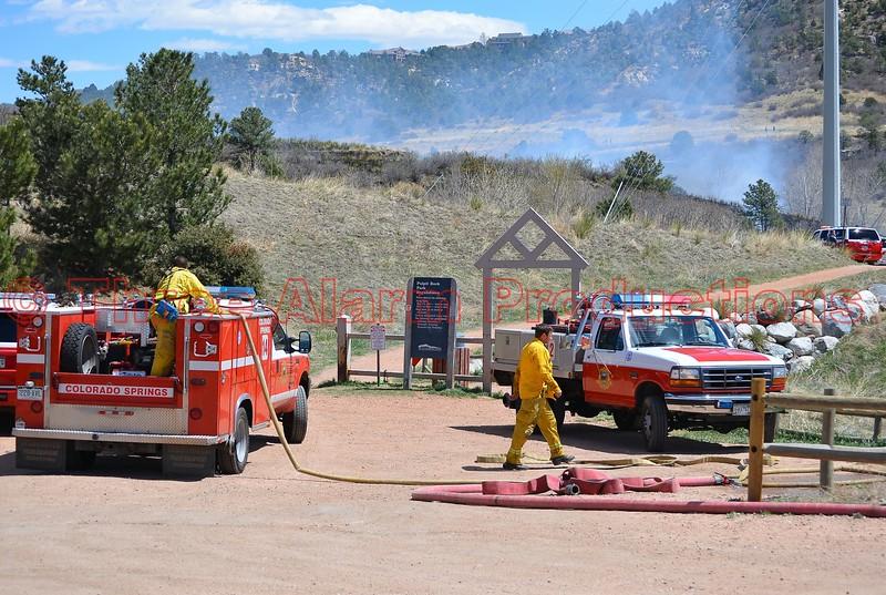 Pulpit Rock Park Wildland Fire-Colorado Springs, Colorado