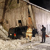 Jeep hits Barn in East Earl