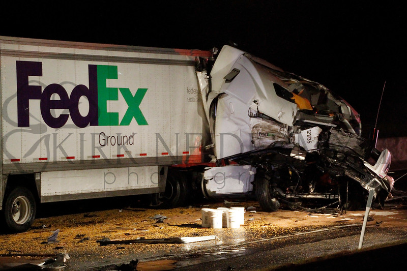 Turnpike Tractor Trailer Crash 3