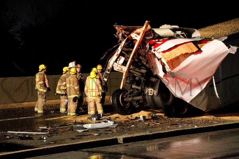 Turnpike Tractor Trailer Crash 1