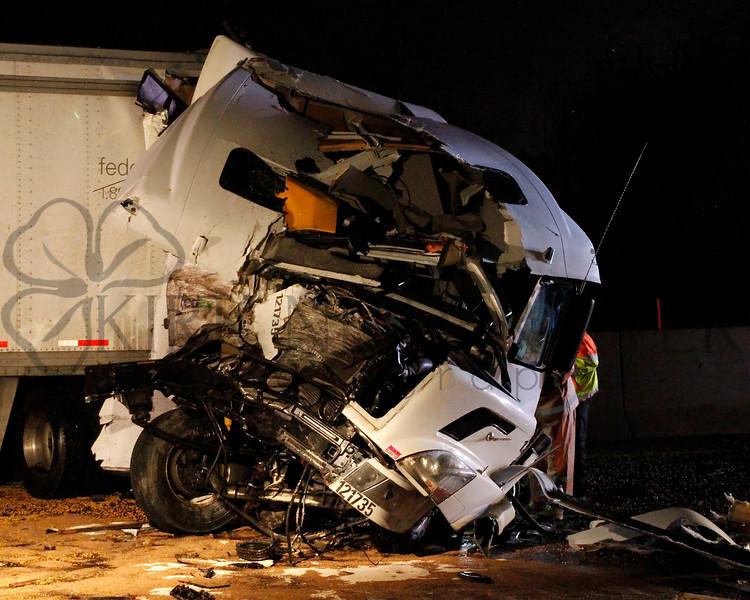 Turnpike Tractor Trailer Crash 2