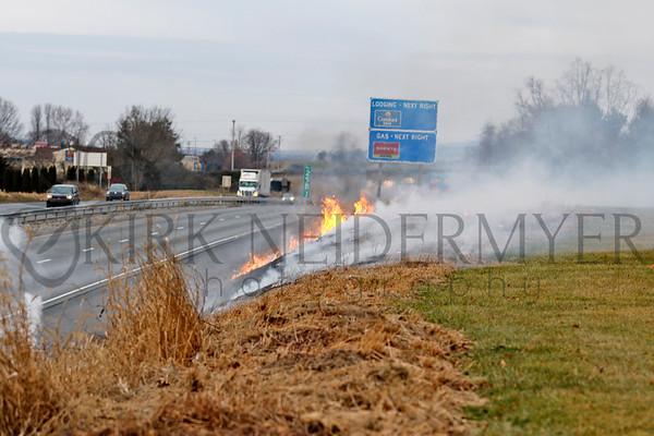 01.14.17 Brush Fire on Route 30 in West Hempfield