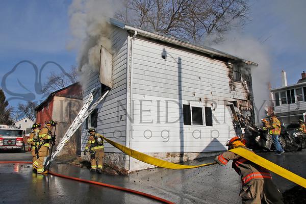 01.15.17 Outbuilding fire in Akron Borough