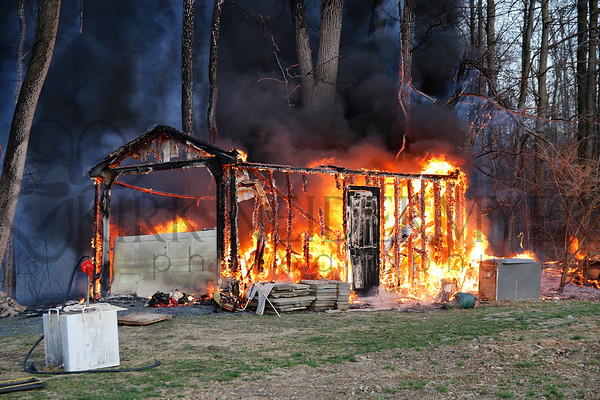 03.09.17 Outbuilding/woods fire in East Earl Township