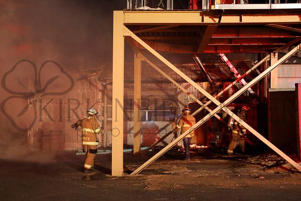 03.11.17 Martin's Furniture Building Fire in Farmersville