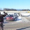 Oakland County Sheriff's deputy directs traffic in downtown Pontiac after a road closure on M59.FILE PHOTO
