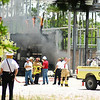 Transformer fire at an OUC power substation.  Aug 6, 2008