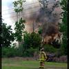 Brush fire destroys an abandoned nursery