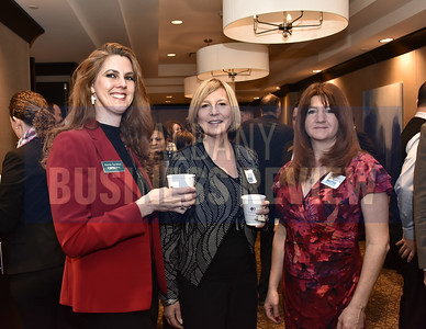 Brenda Garretson from CBRE-Albany, Nia Cholakis from Rosetti Development Cos. and Beverly Swimm from Legacy Title Services
