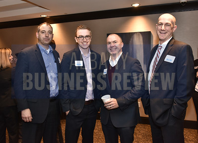 Kevin Catalano from Kinderhook Bank, Ryan Watroba from Coldwell Banker Prime Properties, Joseph Landy from Capitalize Albany Corporation and Al Testa from NBT Bank