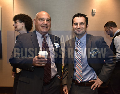 Jerome Mastrianni from NBT Bank and panelist Daniel Fariello from Capital Bank