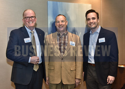 Mark Morrison from Saratoga National Bank with Paul McCoy and Mark Zych from Consigli Construction