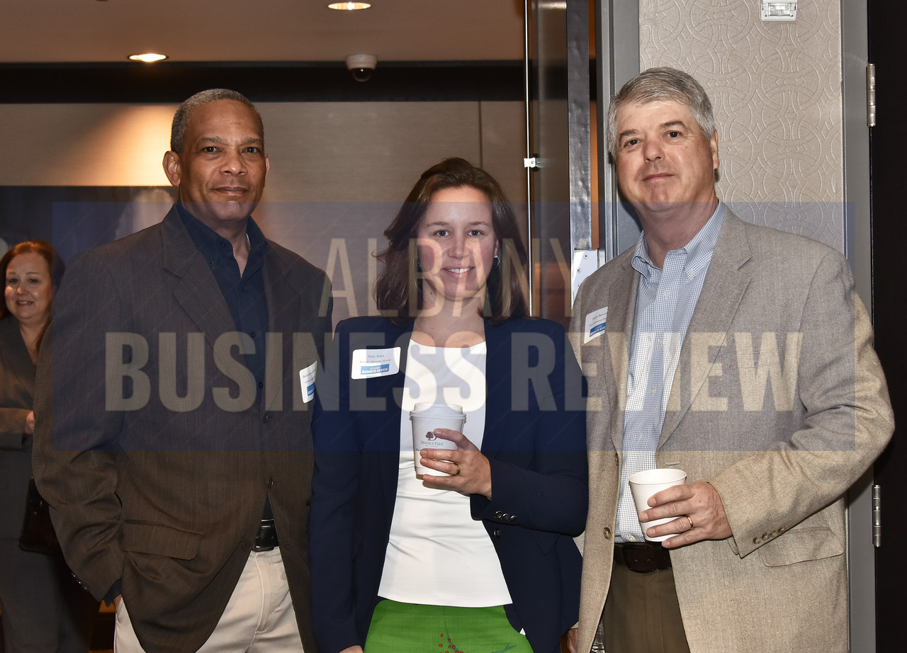 Raimundo Archibold of the Schwartz Heslin Group, Amy Salo of Wealth Advisory Group and Dave Barcomb of Troy Industrial Solutions
