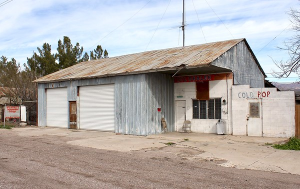 Historic commercial building along Highway 70 (2019)