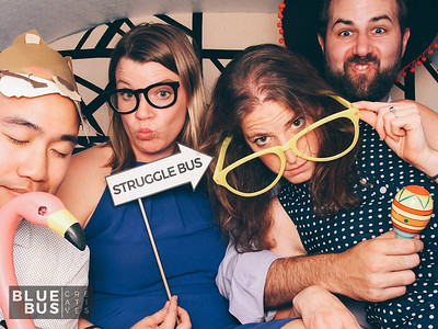 Snapping photos at Emery and Grant's wedding in the #PhotoSwagon!
