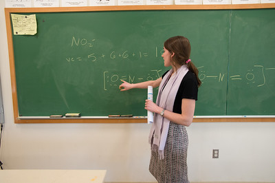 Penn Fellow Emily Adler teaching in her science classroom.