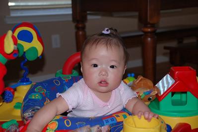 November 12, 2007 - Emi's 1st ponytail.