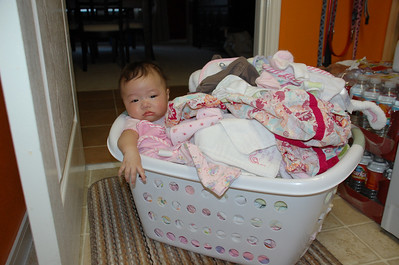 November 16, 2007 - Emily was so dirty we had to wash her with the clothes.