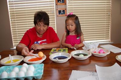 April 4, 2010 - Coloring Easter Eggs with Grandma