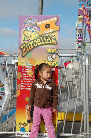 March 14, 2010 - Finally riding the rides at the Houston Rodeo Carnival