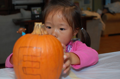 October 29, 2010 - Carving up the pumpkins
