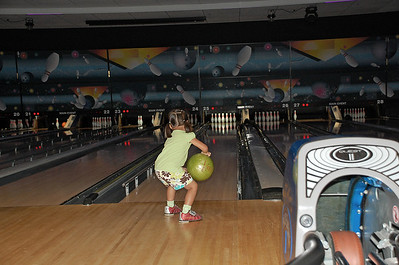 September 6, 2010 - Emily first time bowling.