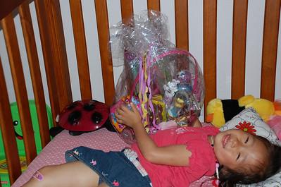 April 24, 2011 - Emily busting open her easter basket