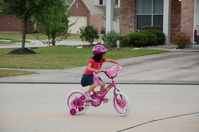 April 24, 2011 - The birthday bicycle she got for Easter