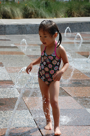 June 4, 2011 - Running in the fountains at Discovery Green