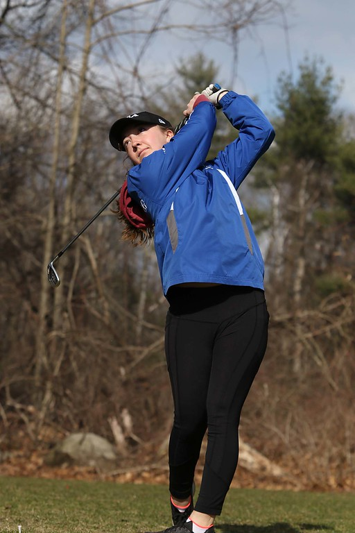 . Lunenburg Middle High School junior Emily Nash out on the course at Settlers Crossing Golf Course on Wednesday afternoon. She will be playing in a USGA tournament in California at the end of the month. SENTINEL & ENTERPRISE/JOHN LOVE