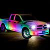 White Dodge Truck 004 _